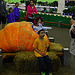 Posing with the giant pumpkin
