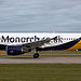G-OZBY Monarch Airlines Airbus A320-214@ Man