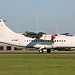 LY-DAT Aerospatiale ATR42-500 DAT - Danish Air Transport (Opt for Loganair) Stansted 25th May 2017