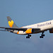 THOMAS COOK G-MDBD  Airbus A330-243 flight MT2825 arrival at Manchester MAN England UK from Los Angeles LAX USA
